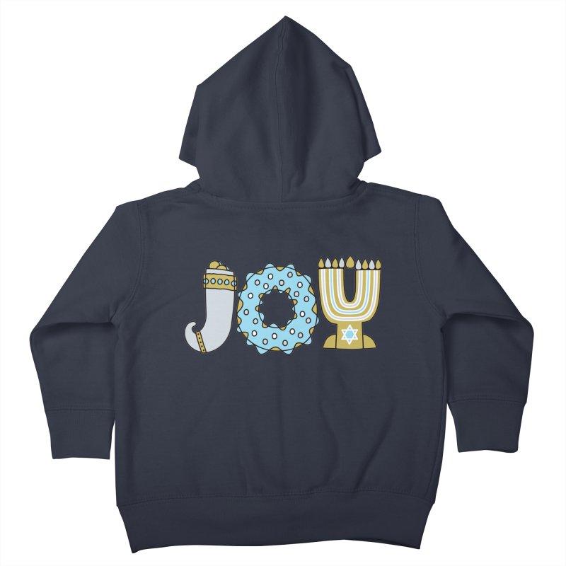 JOY (Hanukkah) Kids Toddler Zip-Up Hoody by Hi Hello Greetings