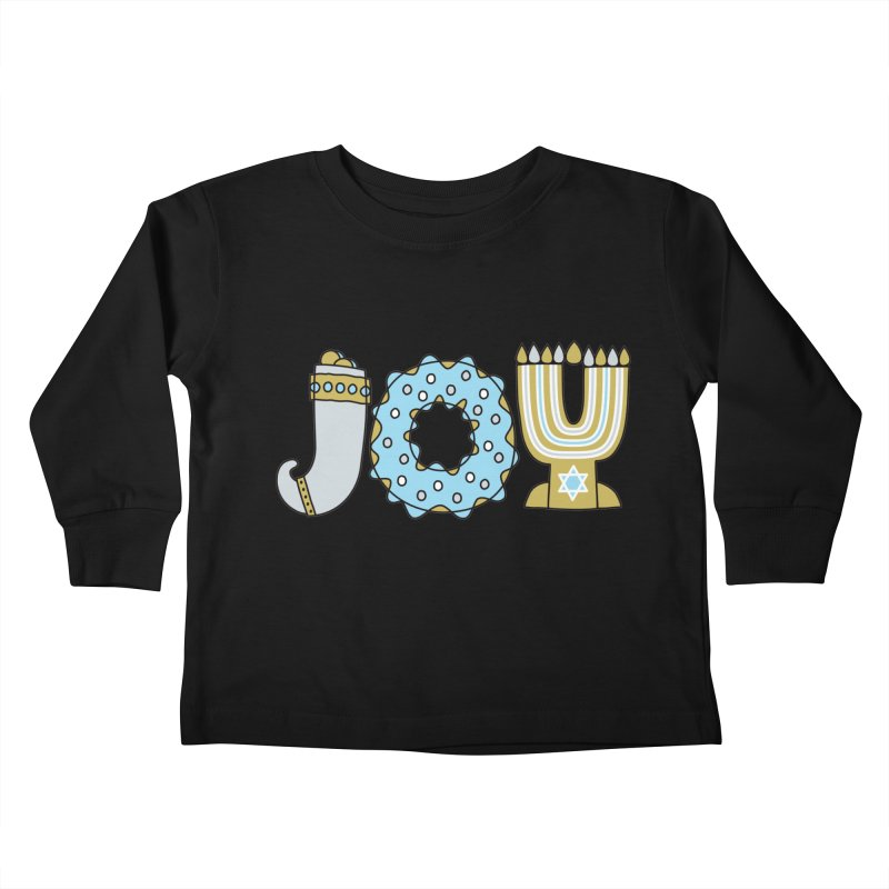 JOY (Hanukkah) Kids Toddler Longsleeve T-Shirt by Hi Hello Greetings