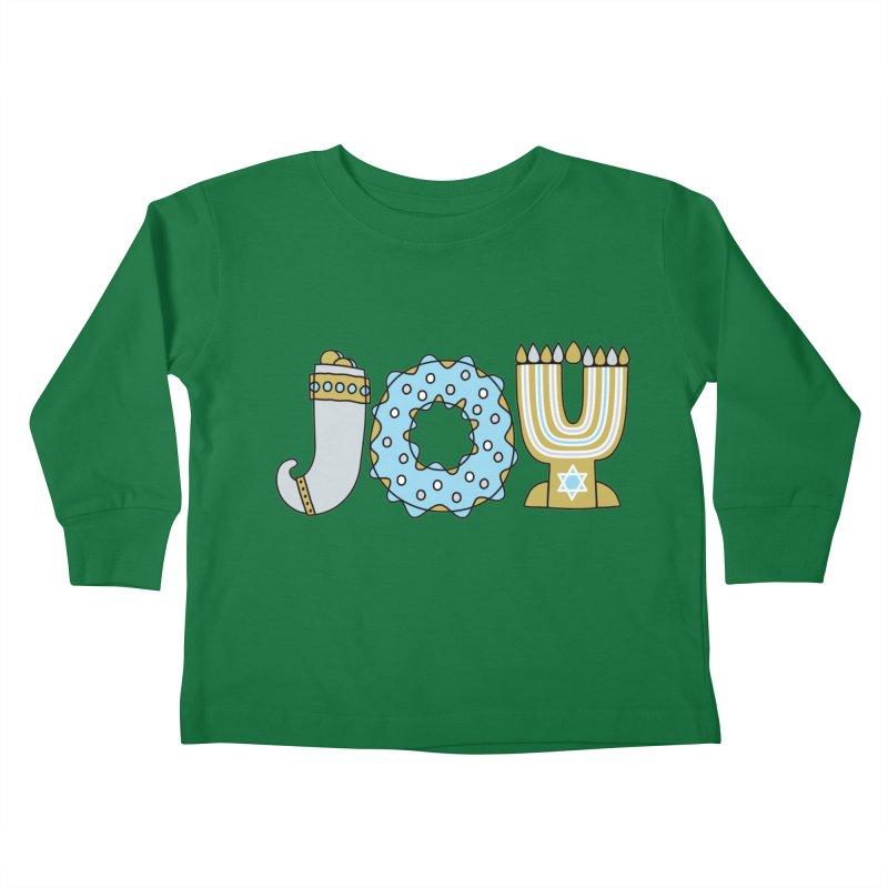 JOY (Hanukkah) Kids Toddler Longsleeve T-Shirt by Hi Hello Greetings