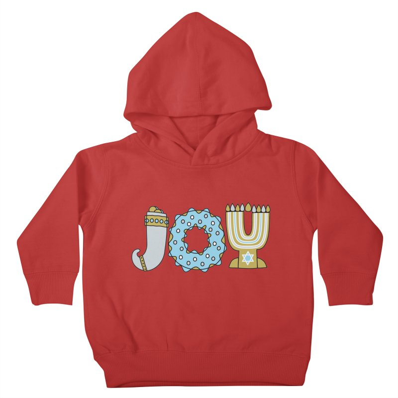 JOY (Hanukkah) Kids Toddler Pullover Hoody by Hi Hello Greetings