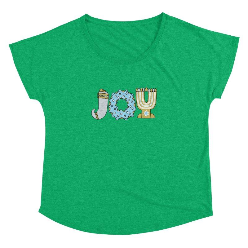 JOY (Hanukkah) Women's Dolman Scoop Neck by Hi Hello Greetings