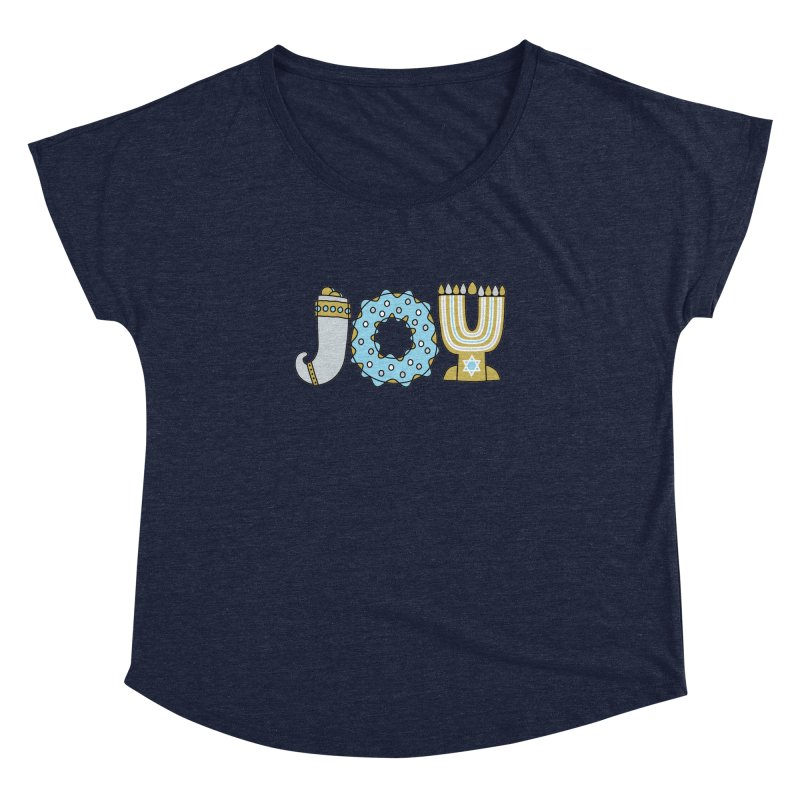 JOY (Hanukkah) Women's Dolman Scoop Neck by Hi Hello Greetings