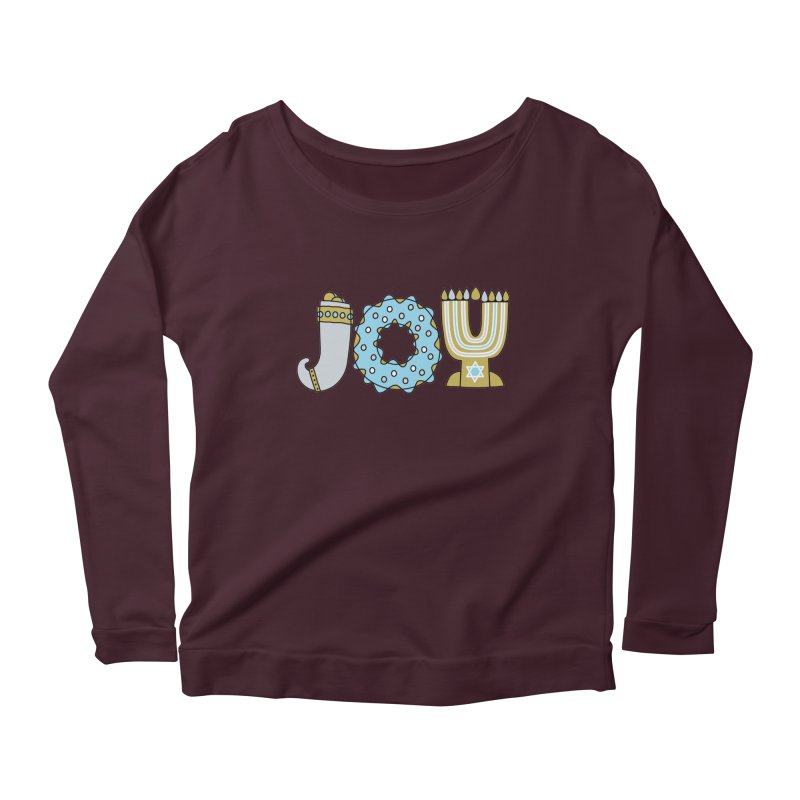 JOY (Hanukkah) Women's Scoop Neck Longsleeve T-Shirt by Hi Hello Greetings
