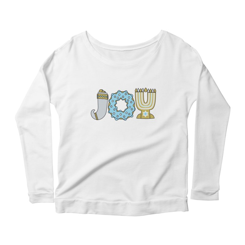 JOY (Hanukkah) Women's Scoop Neck Longsleeve T-Shirt by Hi Hello Greetings