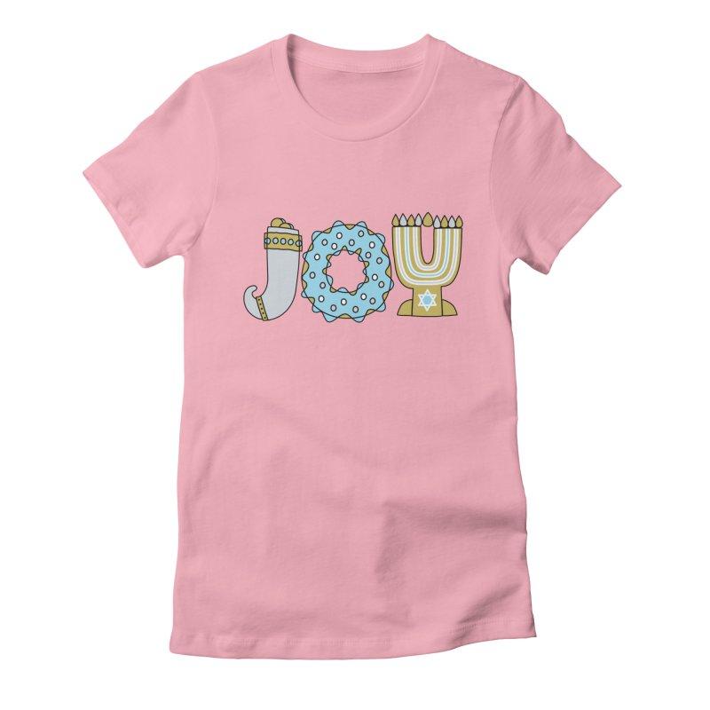 JOY (Hanukkah) Women's Fitted T-Shirt by Hi Hello Greetings