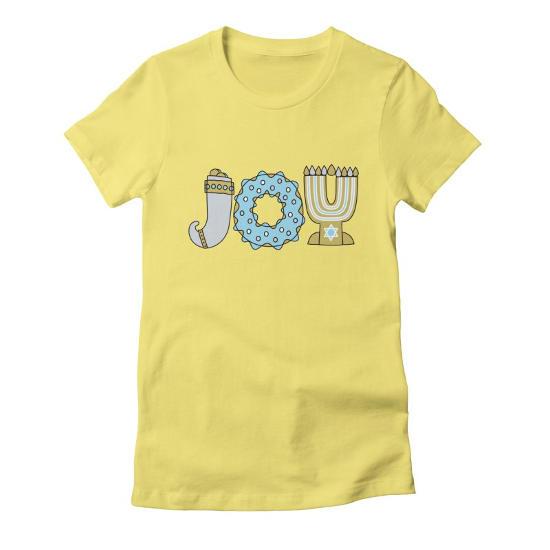 JOY (Hanukkah) Women's Fitted T-Shirt by Hi Hello Greetings