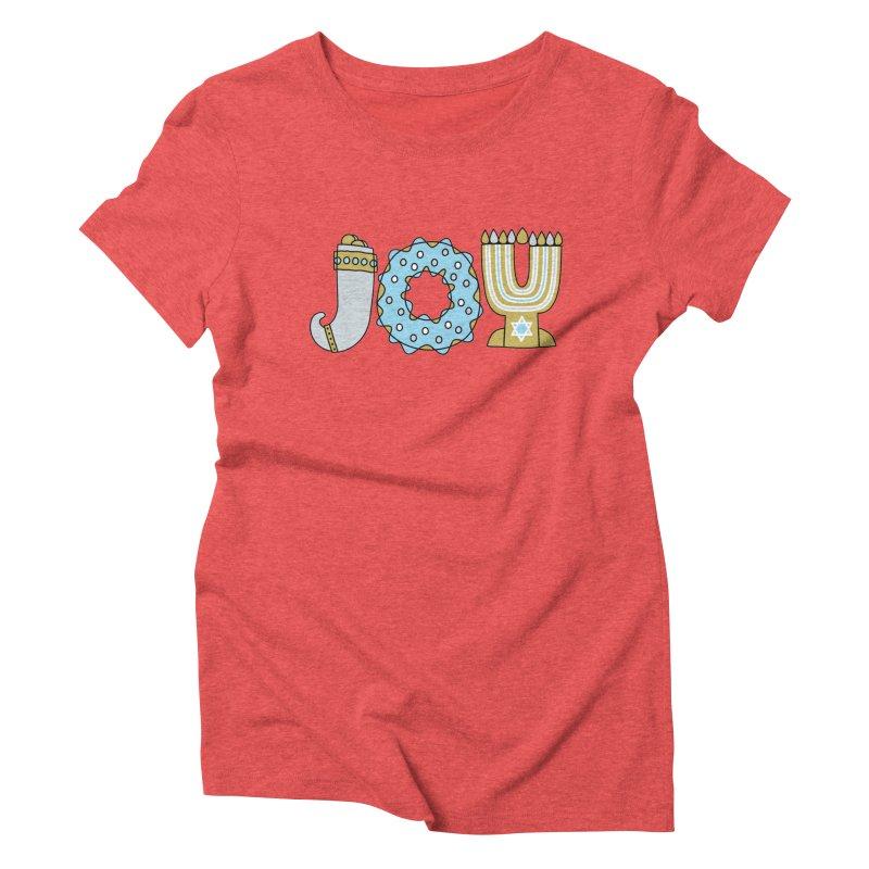 JOY (Hanukkah) Women's Triblend T-Shirt by Hi Hello Greetings