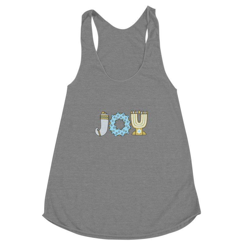 JOY (Hanukkah) Women's Racerback Triblend Tank by Hi Hello Greetings