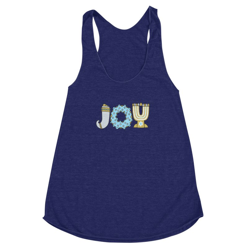 JOY (Hanukkah) Women's Racerback Triblend Tank by Hi Hello Greetings