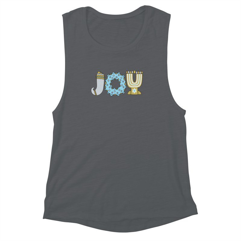 JOY (Hanukkah) Women's Muscle Tank by Hi Hello Greetings
