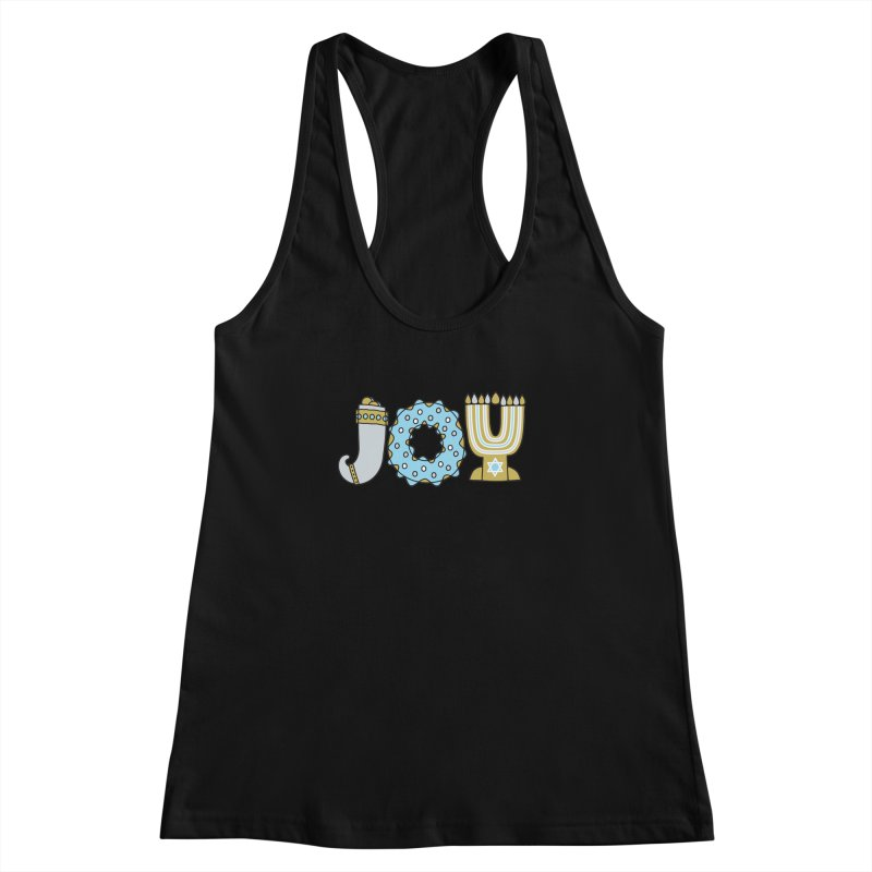 JOY (Hanukkah) Women's Racerback Tank by Hi Hello Greetings