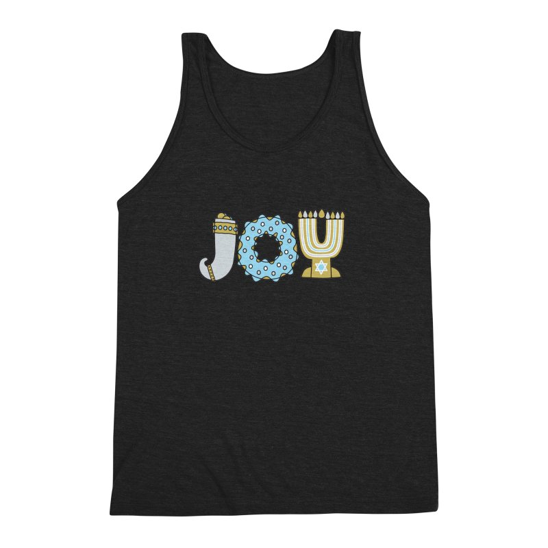 JOY (Hanukkah) Men's Triblend Tank by Hi Hello Greetings