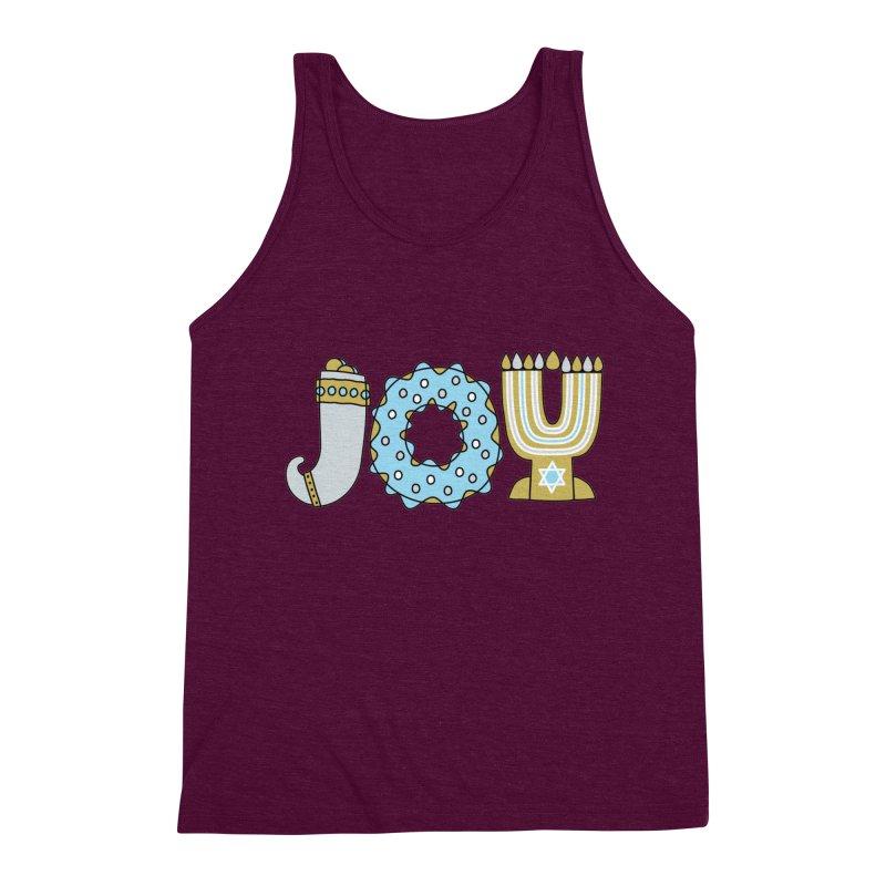 JOY (Hanukkah) Men's Triblend Tank by Hi Hello Greetings