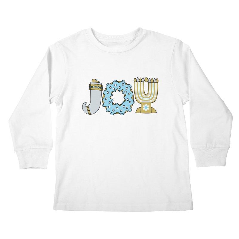 JOY (Hanukkah) Kids Longsleeve T-Shirt by Hi Hello Greetings