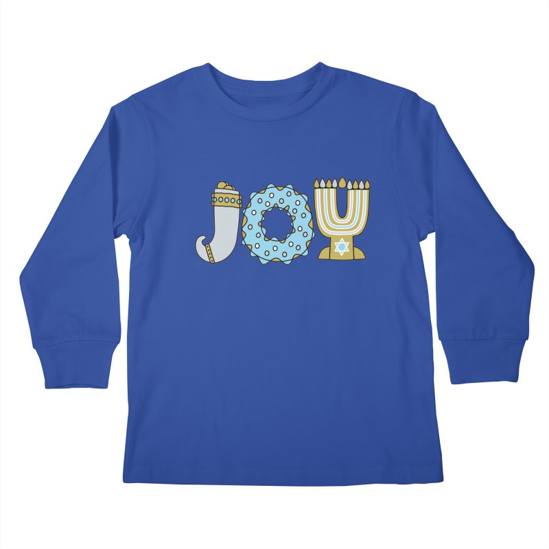 JOY (Hanukkah) Kids Longsleeve T-Shirt by Hi Hello Greetings