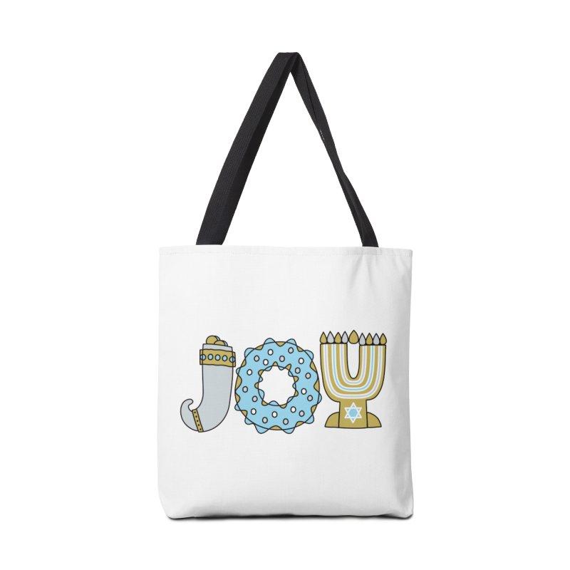 JOY (Hanukkah) Accessories Tote Bag Bag by Hi Hello Greetings