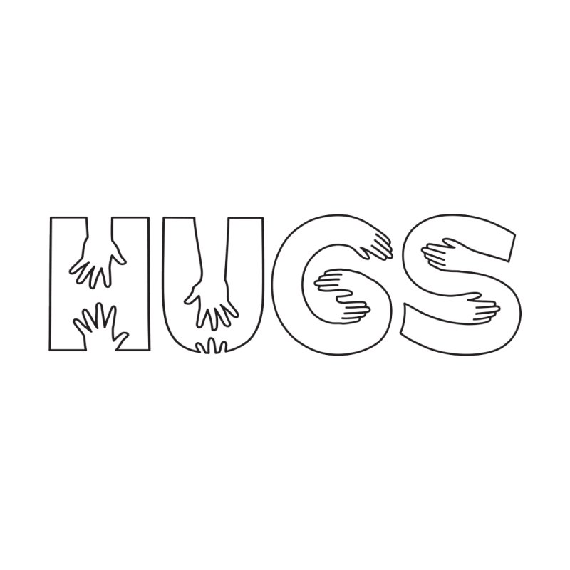 HUGS (B&W) Women's Zip-Up Hoody by Hi Hello Greetings