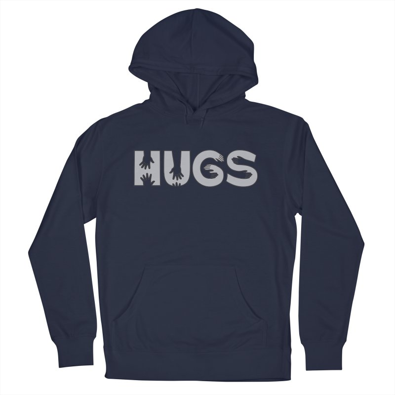 HUGS (B&W) Men's Pullover Hoody by Hi Hello Greetings