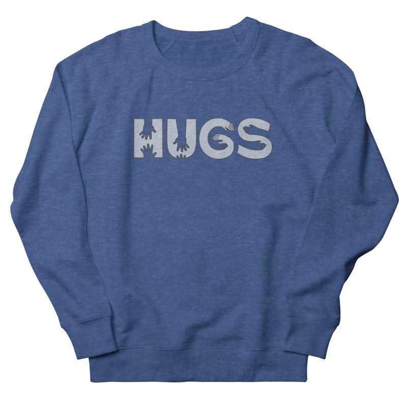 HUGS (B&W) Men's Sweatshirt by Hi Hello Greetings