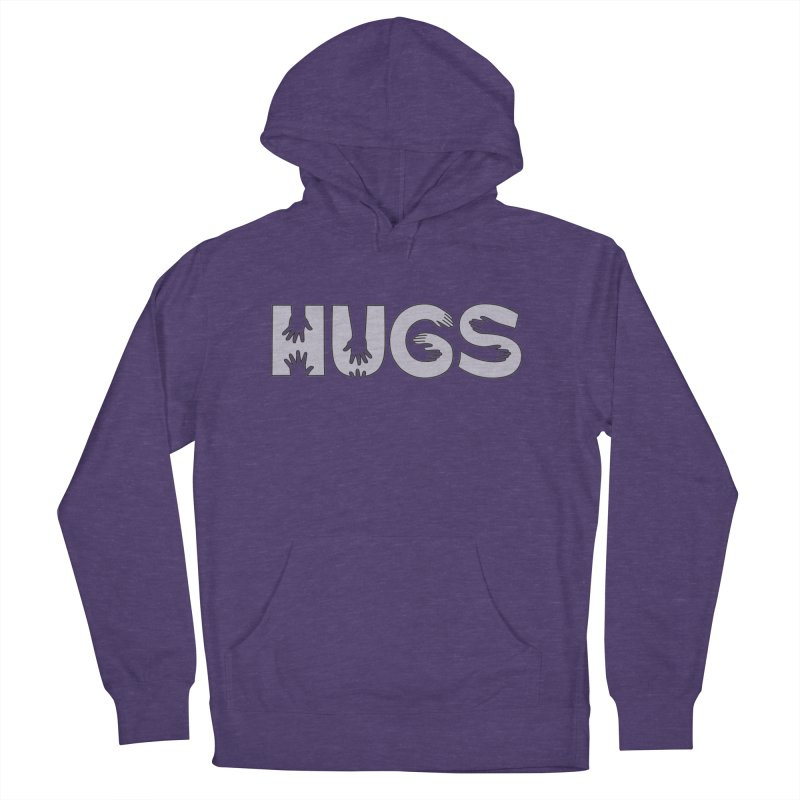HUGS (B&W) Women's French Terry Pullover Hoody by Hi Hello Greetings