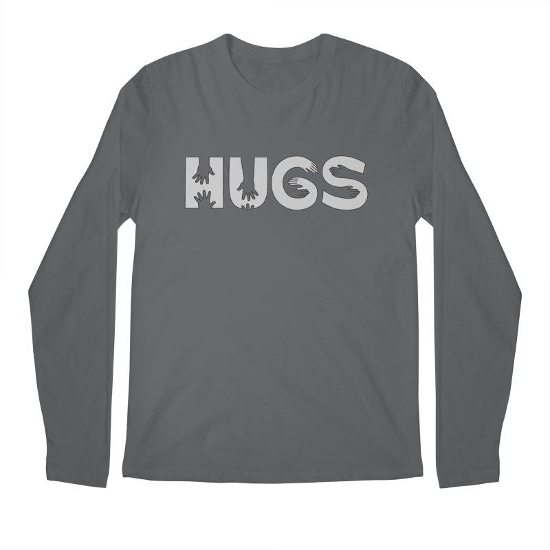 HUGS (B&W) Men's Longsleeve T-Shirt by Hi Hello Greetings