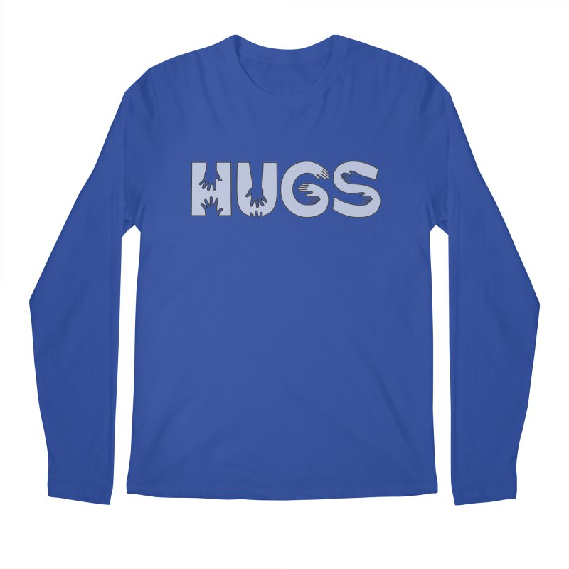 HUGS (B&W) Men's Regular Longsleeve T-Shirt by Hi Hello Greetings
