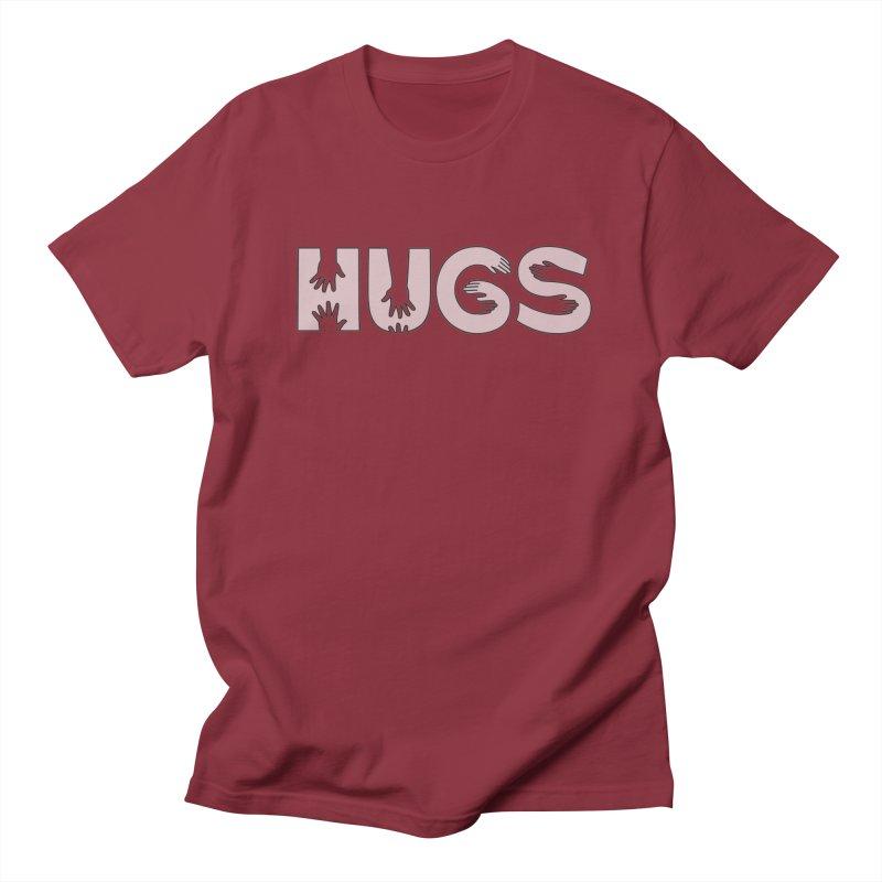 HUGS (B&W) Women's Unisex T-Shirt by Hi Hello Greetings