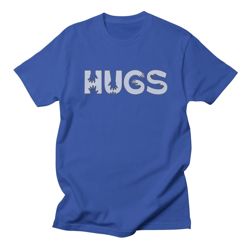 HUGS (B&W) Men's Regular T-Shirt by Hi Hello Greetings