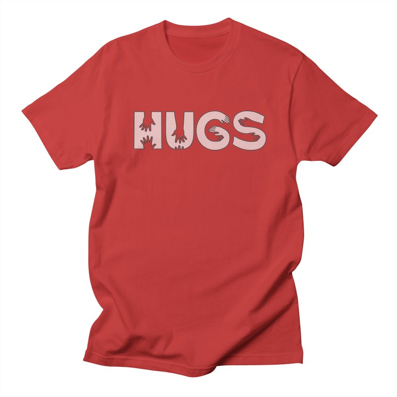HUGS (B&W) Women's Regular Unisex T-Shirt by Hi Hello Greetings