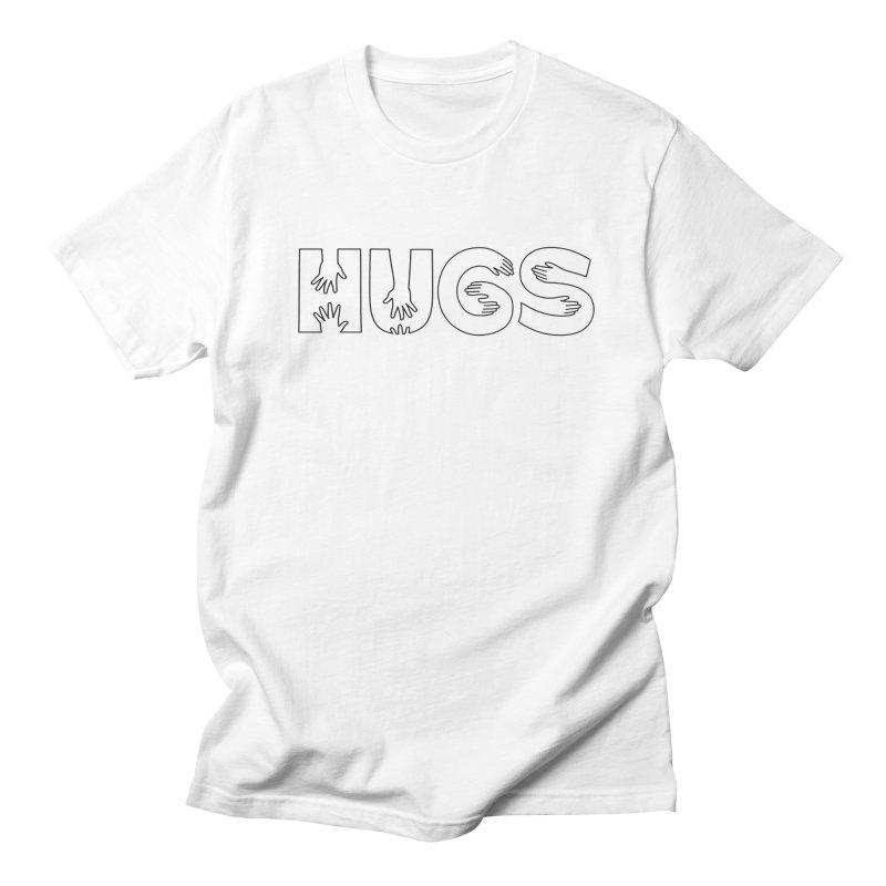HUGS (B&W) Women's Regular Unisex T-Shirt by Hi Hello Greetings