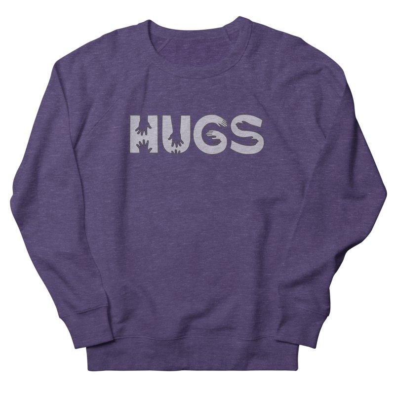 HUGS (B&W) Women's French Terry Sweatshirt by Hi Hello Greetings