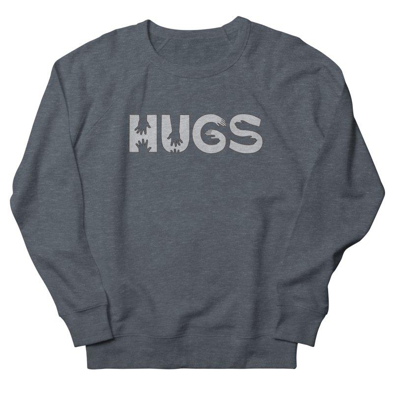 HUGS (B&W) Men's French Terry Sweatshirt by Hi Hello Greetings