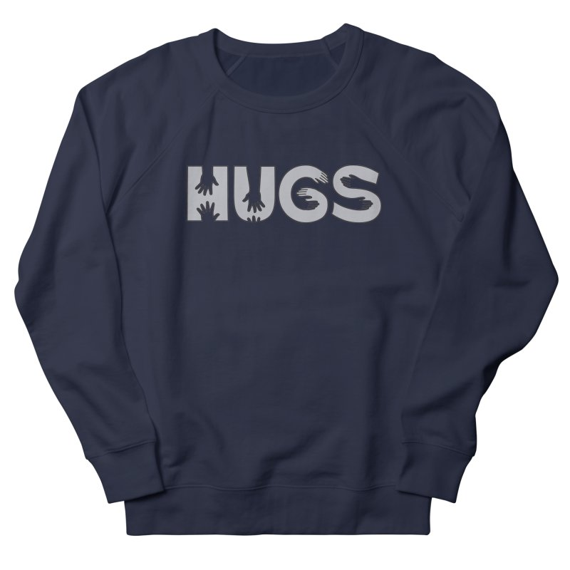 HUGS (B&W) Men's French Terry Sweatshirt by Hi Hello Greetings