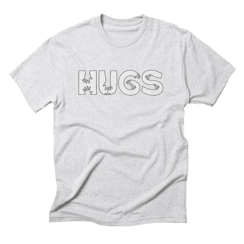 HUGS (B&W) Men's Triblend T-Shirt by Hi Hello Greetings