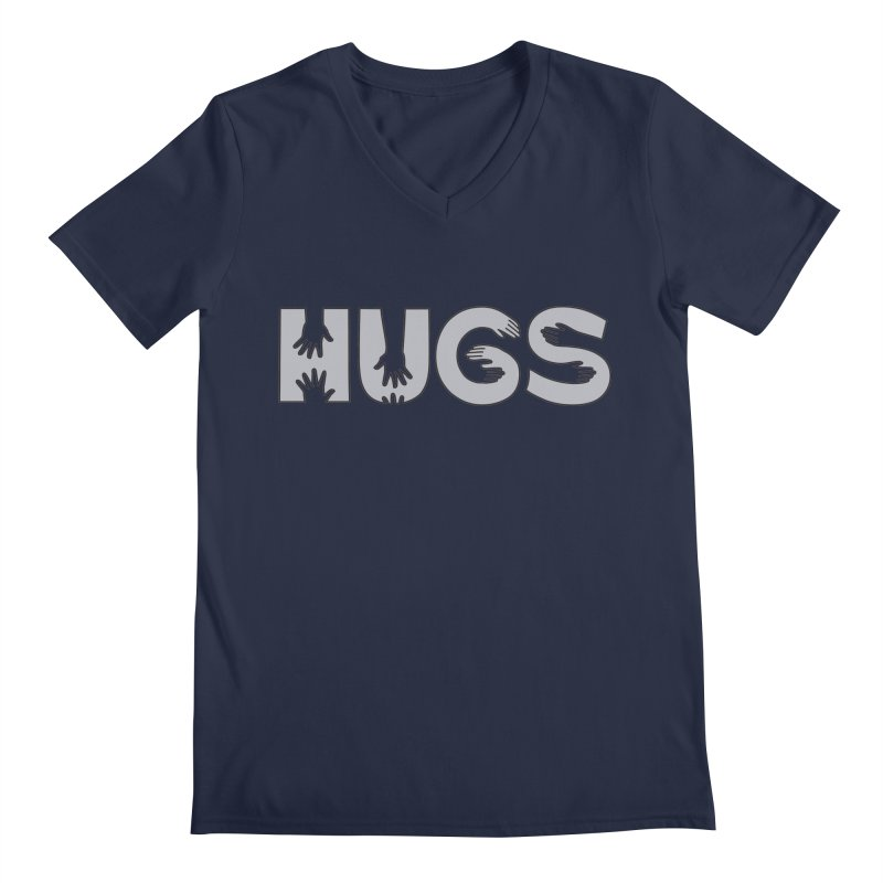 HUGS (B&W) Men's V-Neck by Hi Hello Greetings