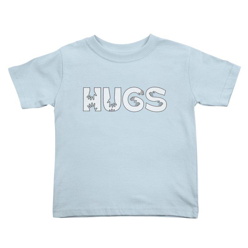 HUGS (B&W) Kids Toddler T-Shirt by Hi Hello Greetings
