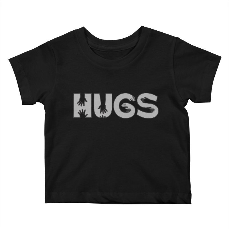 HUGS (B&W) Kids Baby T-Shirt by Hi Hello Greetings