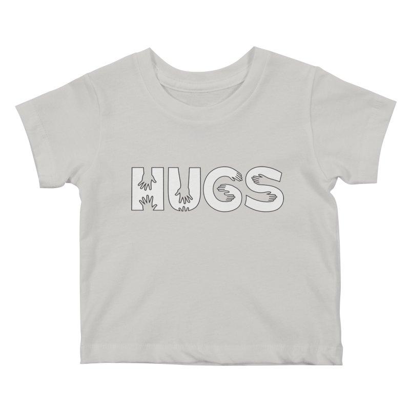 HUGS (B&W) Kids Baby T-Shirt by Hi Hello Greetings