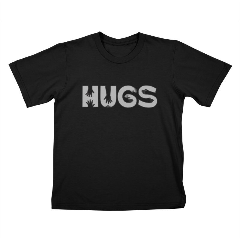 HUGS (B&W) Kids T-Shirt by Hi Hello Greetings
