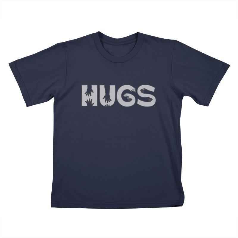 HUGS (B&W) Kids T-Shirt by Hi Hello Greetings
