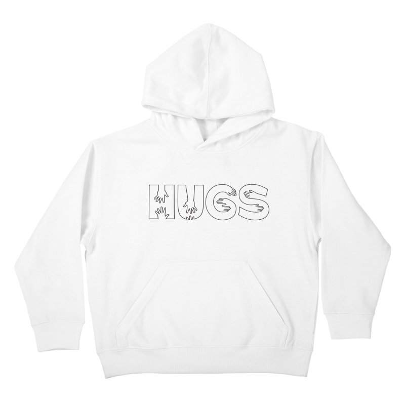 HUGS (B&W) Kids Pullover Hoody by Hi Hello Greetings