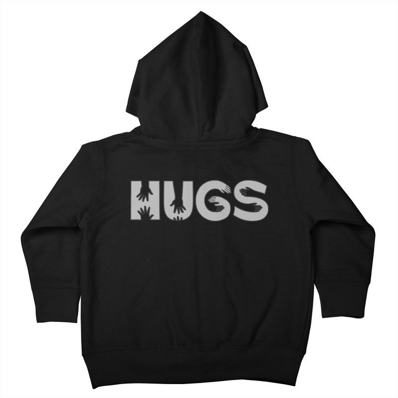 HUGS (B&W) Kids Toddler Zip-Up Hoody by Hi Hello Greetings