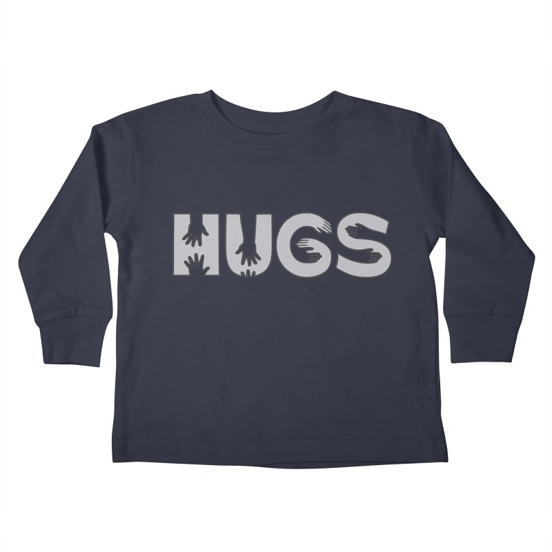 HUGS (B&W) Kids Toddler Longsleeve T-Shirt by Hi Hello Greetings