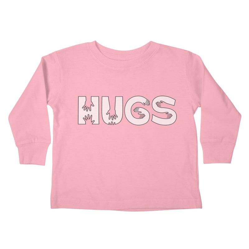 HUGS (B&W) Kids Toddler Longsleeve T-Shirt by Hi Hello Greetings