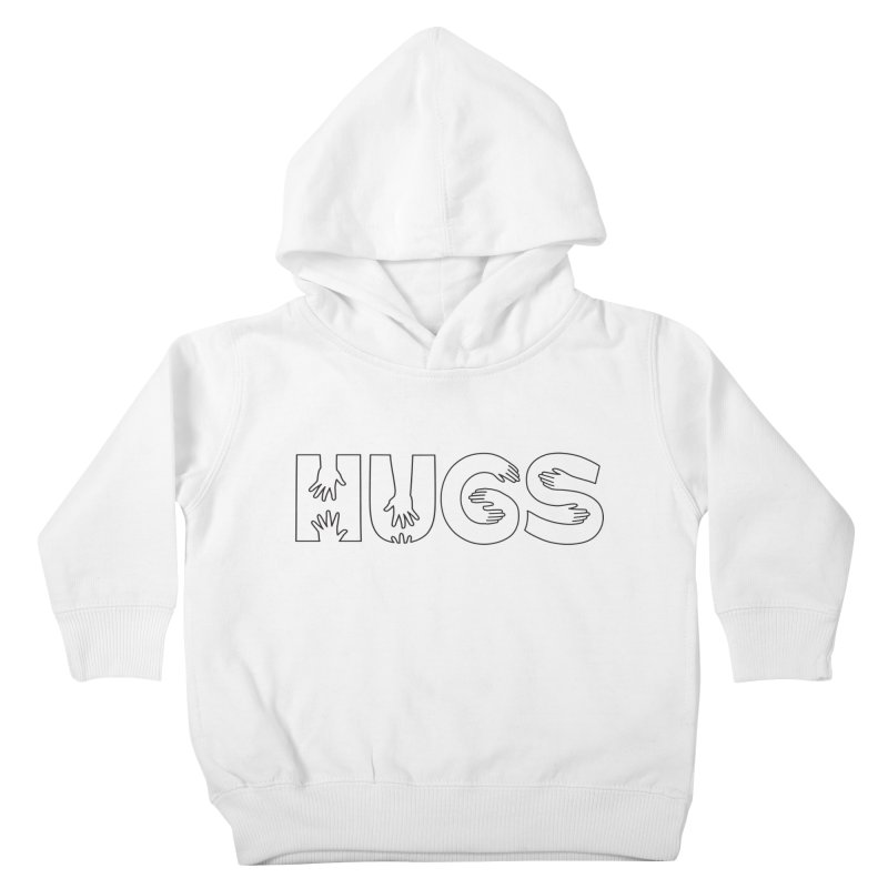 HUGS (B&W) Kids Toddler Pullover Hoody by Hi Hello Greetings