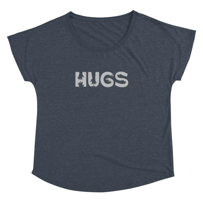 HUGS (B&W) Women's Dolman by Hi Hello Greetings