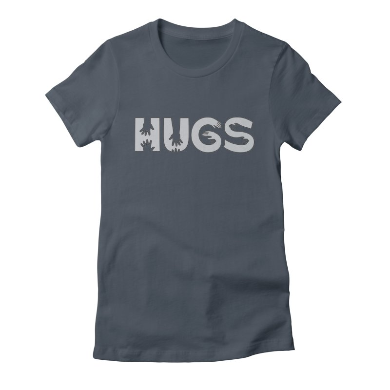 HUGS (B&W) Women's Fitted T-Shirt by Hi Hello Greetings