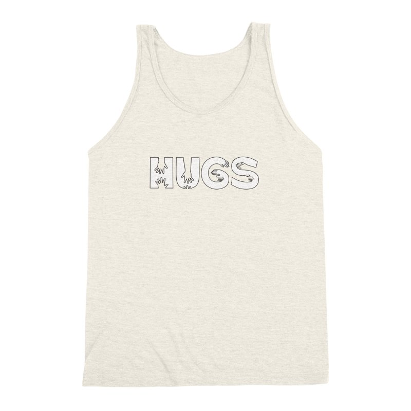 HUGS (B&W) Men's Triblend Tank by Hi Hello Greetings