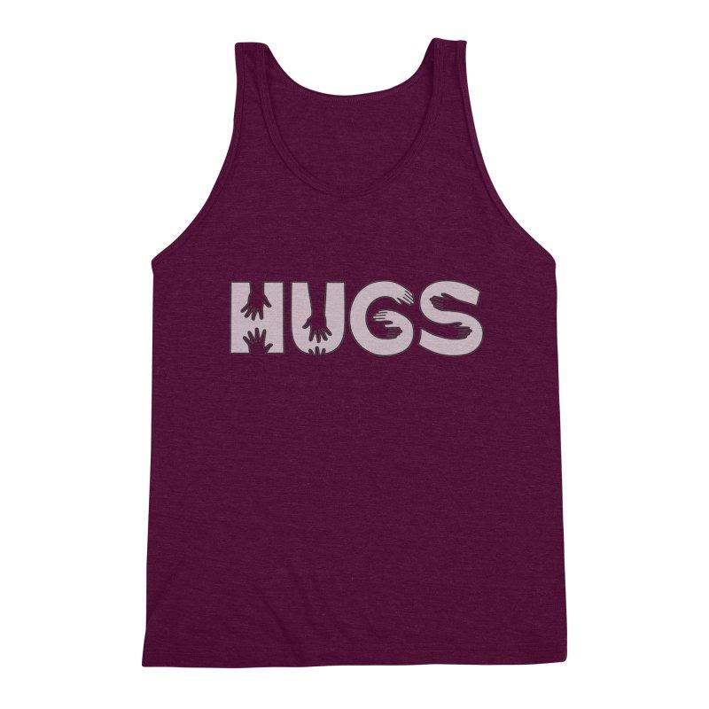 HUGS (B&W) Men's Triblend Tank by Hi Hello Greetings