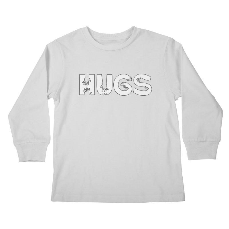 HUGS (B&W) Kids Longsleeve T-Shirt by Hi Hello Greetings